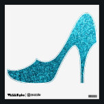 """Faux Blue Glitter high heel shoe wall decal<br><div class=""""desc"""">NOTE: PRODUCT DOES NOT CONTAIN ACTUAL GLITTER. IT IS A GLITTER GRAPHIC. glitter, glittery, sparkle, sparkles, sparkly, sparkley, sparkling, glittering, glitters, shiny, shine, purple, elegant, stylish, girly, girl, girls, bling, cute, fun, shiney, fashion, fashionable, trendy, soft, focus, modern, contemporary, pretty, sequin, sequins, glam, glamor, glamorous, glamour, style, diamond, diamonds, crystals,...</div>"""