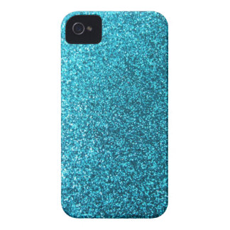 Faux Blue Glitter iPhone 4 Case