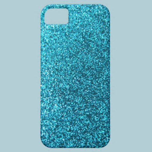 Faux Blue Glitter iPhone 5 Cover