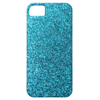 Faux Blue Glitter iPhone SE/5/5s Case