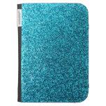 Faux Blue Glitter Kindle Case