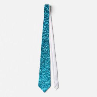 Faux Blue Glitter Neck Tie
