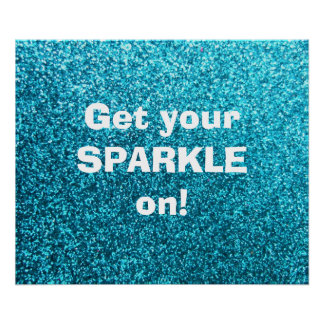 Faux Blue Glitter Posters