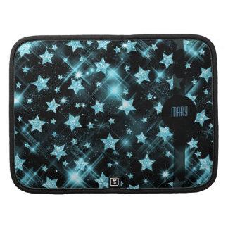 Faux Blue Glitter Stars Planners