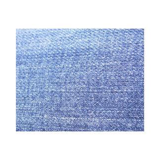 Faux Blue Jeans Background Canvas Print