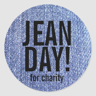 Faux Blue Jeans Casual Day Stickers