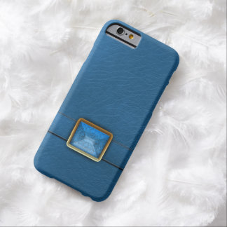 Faux Blue Leather And Matching Gem iPhone 6 Case