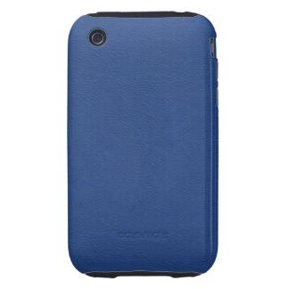 Faux Blue Leather iPhone 3 Tough Cases