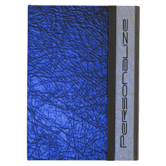 Faux Blue Leather Texture iPad Air Covers