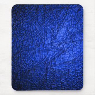 Faux Blue Leather Texture Mouse Pad