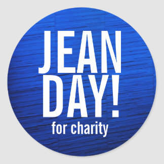 Faux Blue Texture Jean Day Stickers