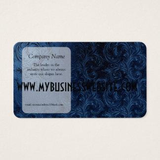 Faux Blue Velvet Swirls Business Card