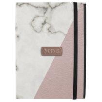 "Faux Blush Pink Marble iPad Pro 12.9"" case"