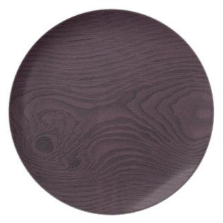 Faux Bois Plate