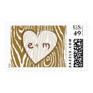 Faux Bois Wedding Stamp