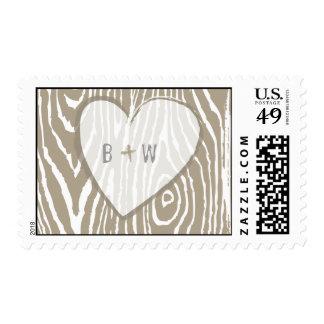 Faux Bois Wedding Stamp - Customizable!
