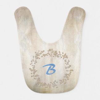 Faux Bois Wooden Boards Baby Bib
