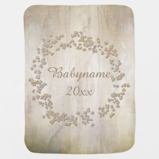 Faux Bois Wooden Boards Baby Blankets