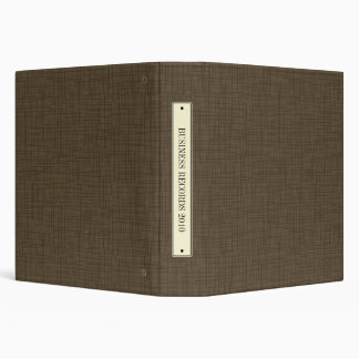 Faux Bookcloth Linen Vintage Label Binder Brown