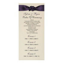 FAUX bow amethyst program and Wedding menu