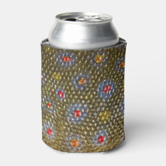 Faux Brook Trout Scale Texture Look Pattern Can Cooler