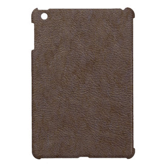 Faux Brown Leather Background iPad Mini Case Cover