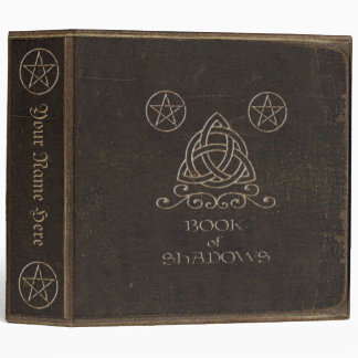 Faux Brown Leather Book of Shadows 3 Ring Binder