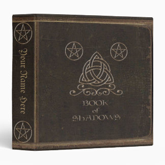 Faux Brown Leather Book of Shadows Vinyl Binder