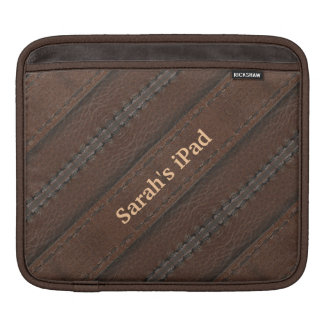 Faux Brown Leather iPad Sleeve