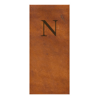 Faux Brown Leather Texture Rack Card