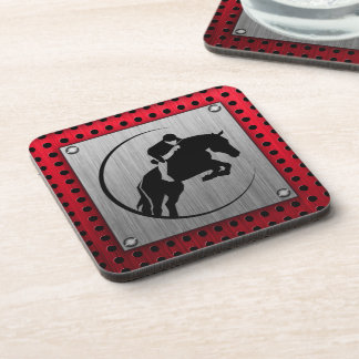 Faux Brushed Aluminum Equestrian. Coaster