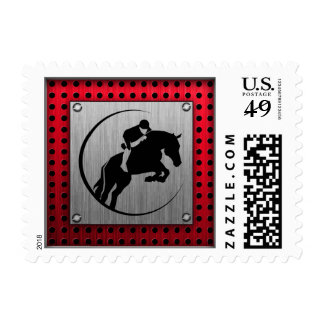 Faux Brushed Aluminum Equestrian. Stamps