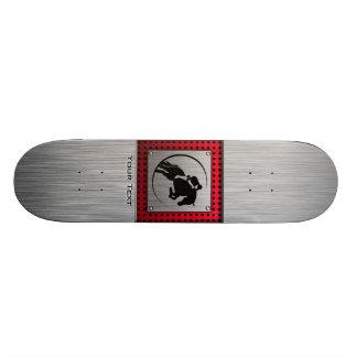 Faux Brushed Aluminum Equestrian. Skateboard Deck