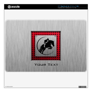 Faux Brushed Aluminum Equestrian. Decals For MacBook