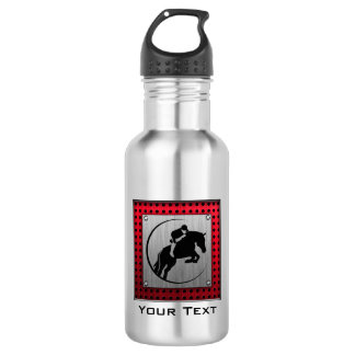 Faux Brushed Aluminum Equestrian. Water Bottle