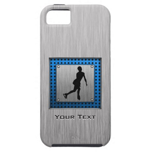 Faux Brushed Metal; Figure Skating iPhone 5 Case