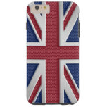 Faux Brushed Metal Style Union Jack Tough iPhone 6 Plus Case