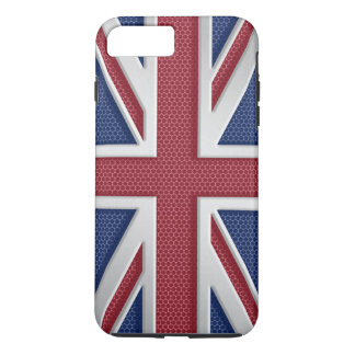 Faux Brushed Metal Style Union Jack iPhone 7 Plus Case