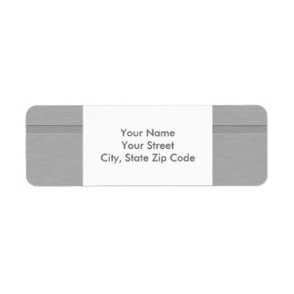 Faux Brushed Metal with Groove address label
