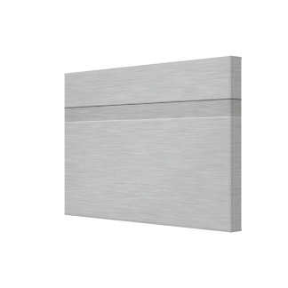 Faux Brushed Metal with Groove Gallery Wrapped Canvas