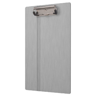 Faux Brushed Metal with Groove Clipboard