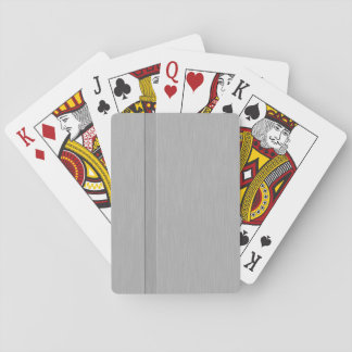 Faux Brushed Metal with Groove Deck Of Cards