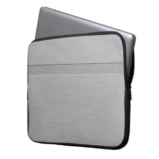 Faux Brushed Metal with Groove Laptop Computer Sleeves
