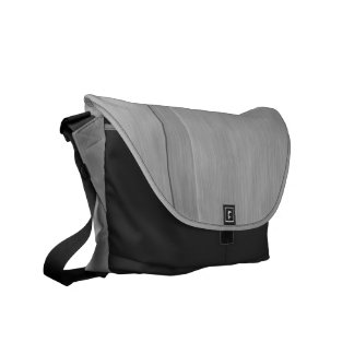 Faux Brushed Metal with Groove Messenger Bag