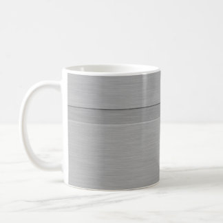 Faux Brushed Metal with Groove Coffee Mug