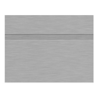 Faux Brushed Metal with Groove Postcards