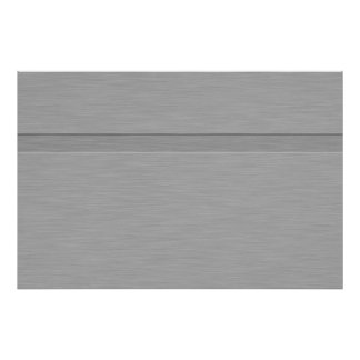 Faux Brushed Metal with Groove Poster
