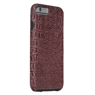 Faux Burgundy Wine Leather IPhone 6 Case