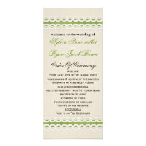FAUX burlap and lace lime country wedding Rack Card