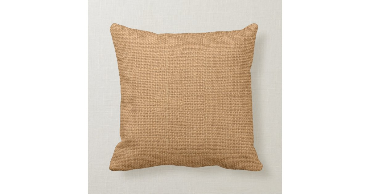 Faux Burlap Jute Linen Look Wedding Throw Pillow Zazzle